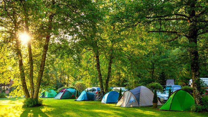 A Picture of lots of tents in a campground