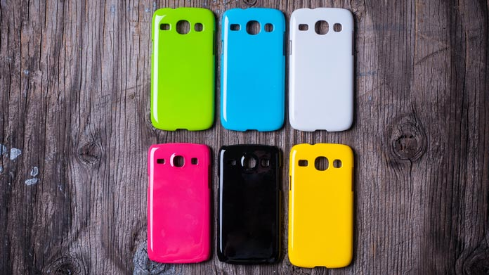 A Colorful Display Of Phone Cases