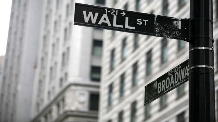 https://cdn2.howtostartanllc.comA black and white image of a street at the corner of Wall Street and Broadway