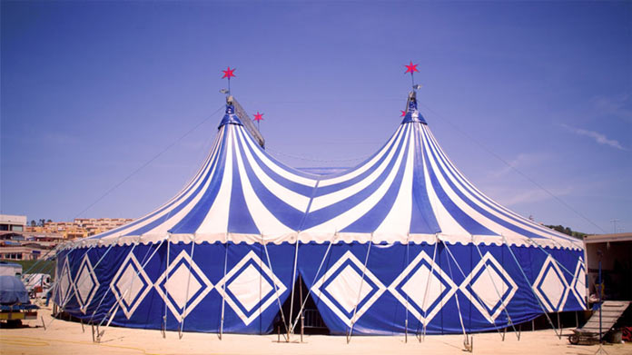 https://cdn2.howtostartanllc.comA Large Blue Circus Tent