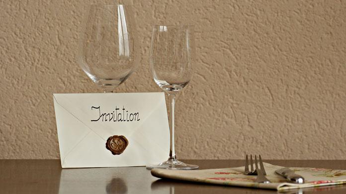 Открытки приглашения ужин