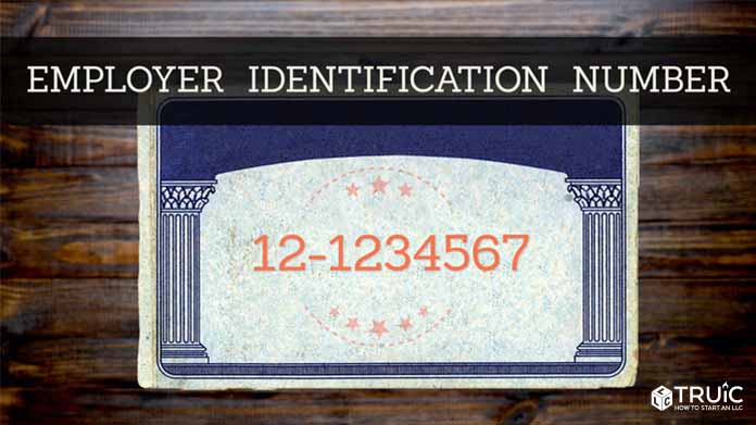 Social security card with the words employer identification number on it.