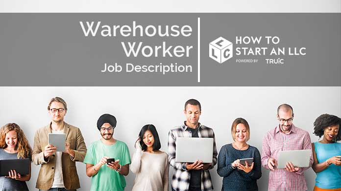 Image with text that says Warehouse Worker Job Description